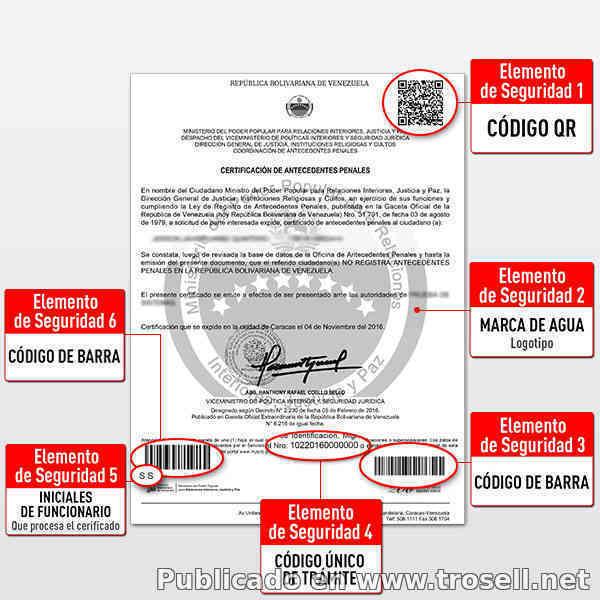 Antecedentes penales certificaciones para tr mites for Tramites web ministerio del interior